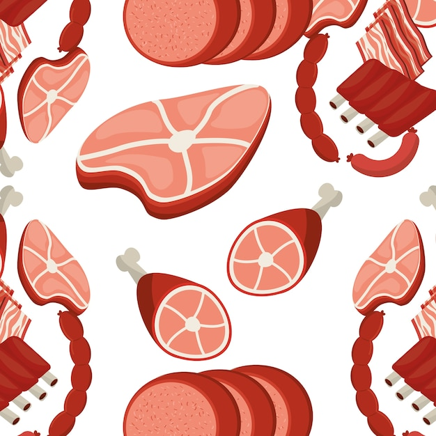 Meat menu Premium Vector