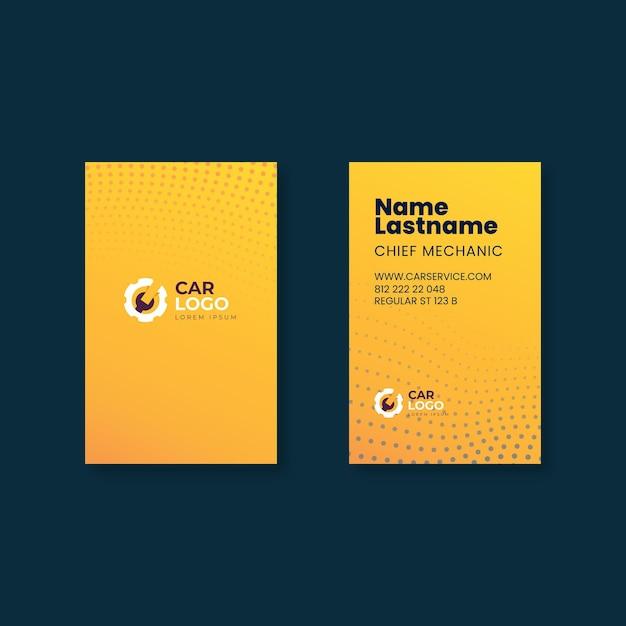 Шаблон визитной карточки механика Premium векторы
