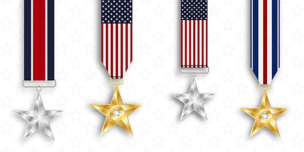 Medal of honor Premium Vector