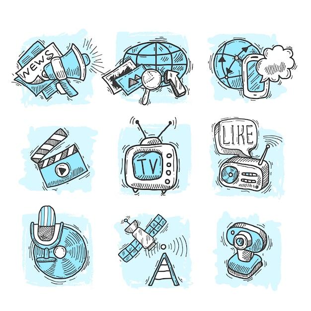 Media design concepts Free Vector
