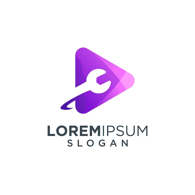 Media logo illustration Premium Vector