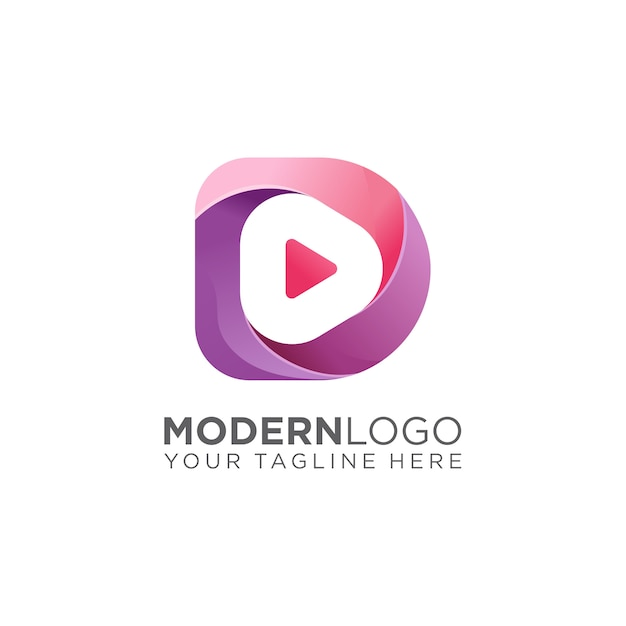 Media logo Premium Vector