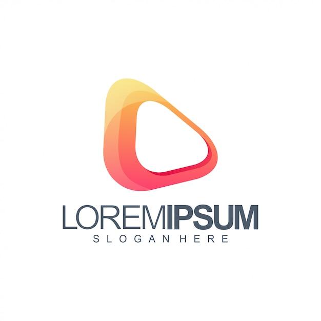 Media orange logo Premium Vector
