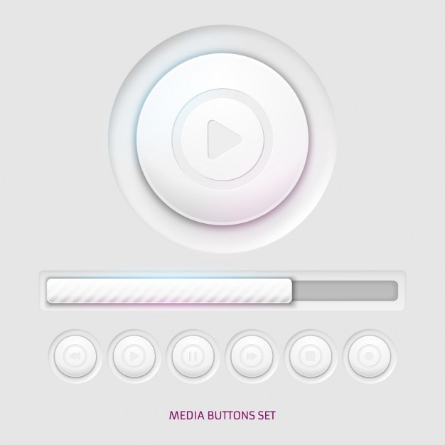 Media player pulsanti Vettore gratuito