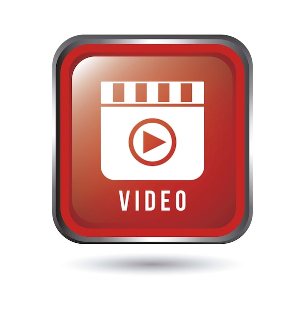 Media player icon over white background vector illustration Premium Vector