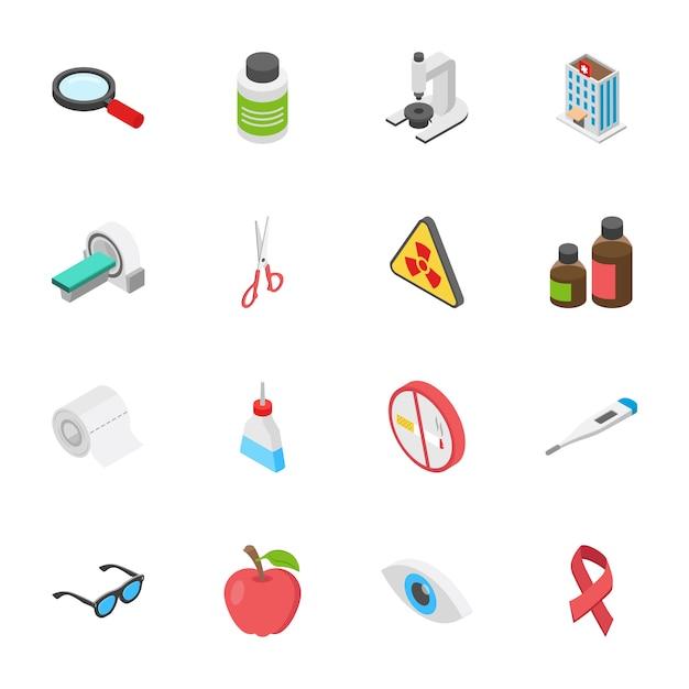 Медицина и здоровье иконки Premium векторы