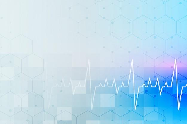 テキスト領域と医療とヘルスケアの背景 無料ベクター