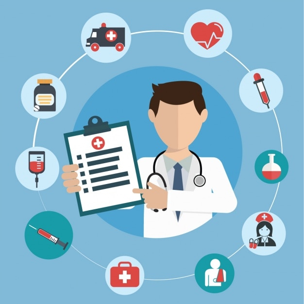 Medical background design Free Vector