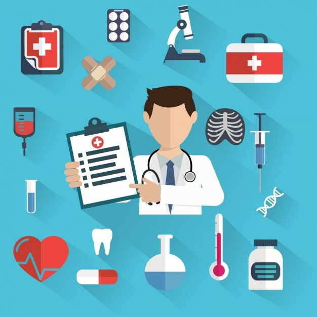 Free Vector | Medical background design