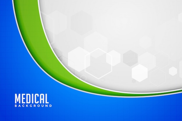 Medical background in wave style Free Vector