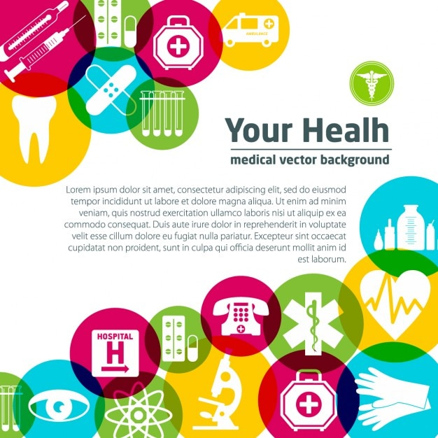 Medical background with colorful elements