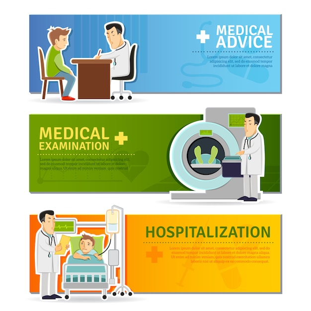 Medical banners set Free Vector