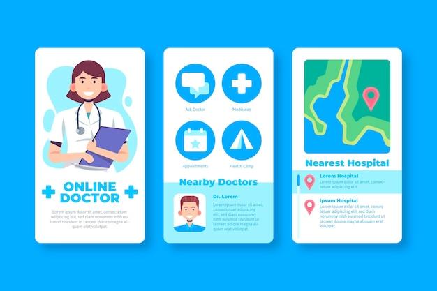 医療予約アプリの設計 無料ベクター