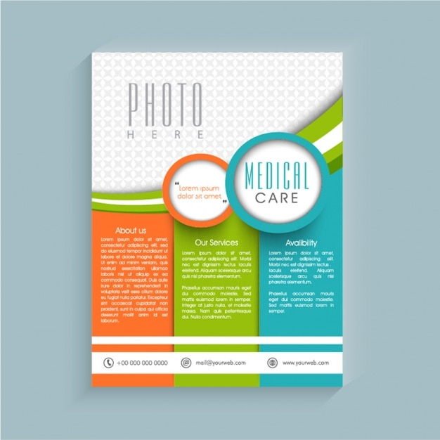 Medical Brochure Template With Different Colors Vector  Premium