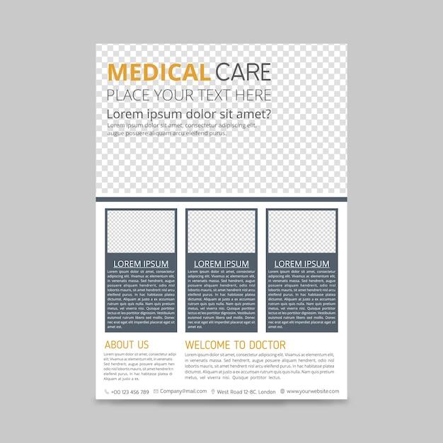 Medical brochure template Free Vector
