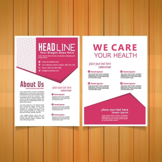 free mental health brochure templates - medical brochure template vector free download