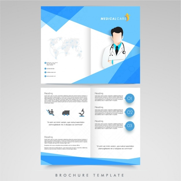 Medical brochure template vector premium download for Free medical brochure templates