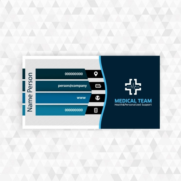 medical business card design free vector - Medical Business Cards