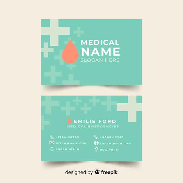 Medical business card design Free Vector