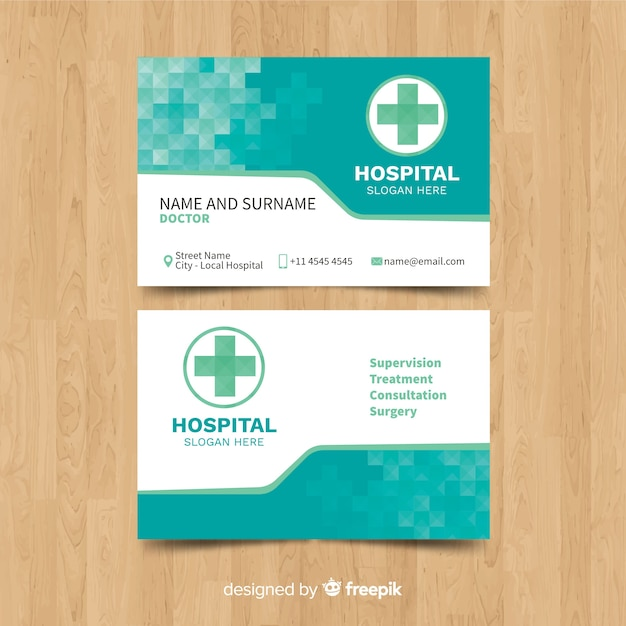 Medical business card template with modern style vector free download medical business card template with modern style free vector friedricerecipe Images