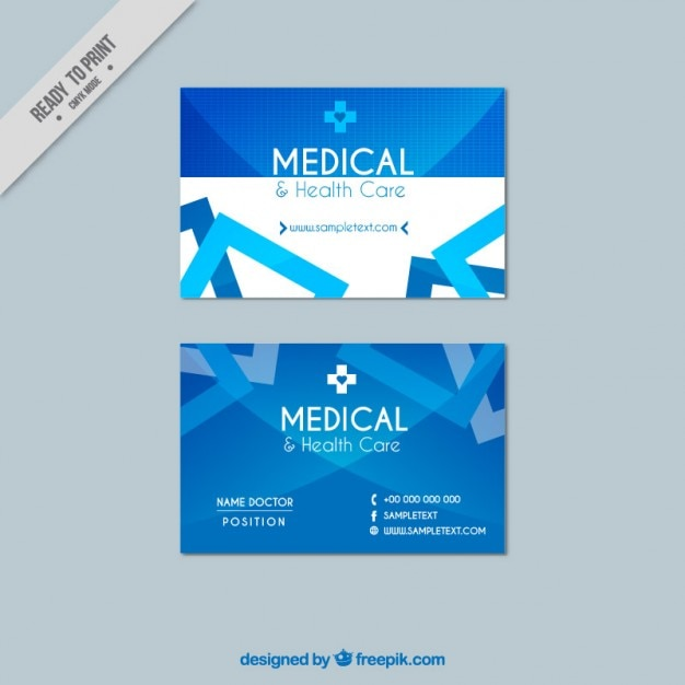 medical business card vector free download