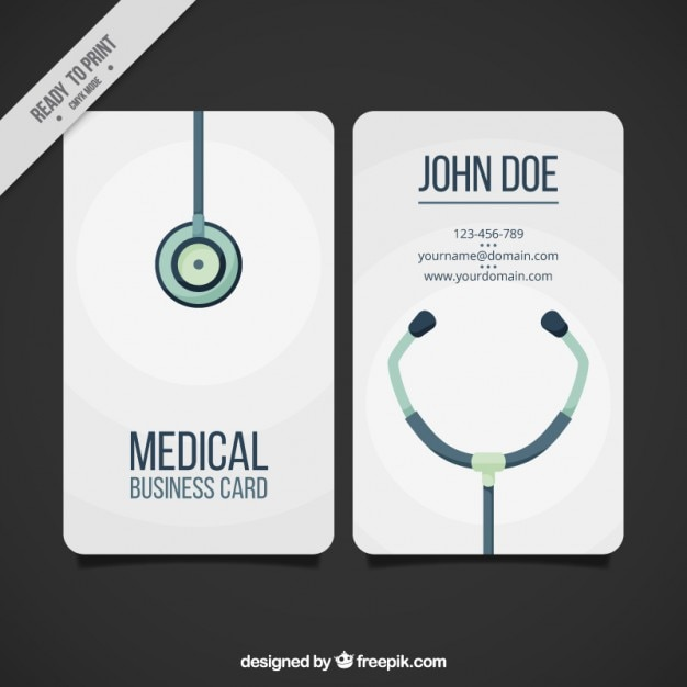 medical business card free vector - Medical Business Cards