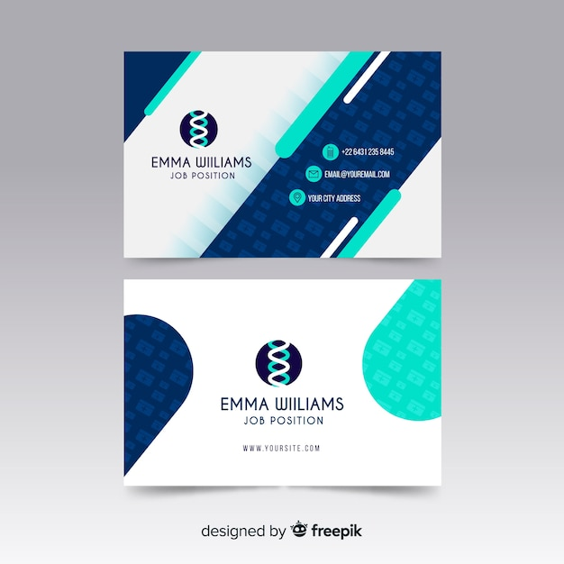 Medical business card Free Vector