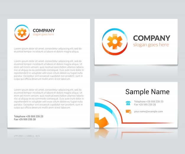 Medical business cards Free Vector