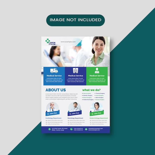 Medical business flyer Premium Vector