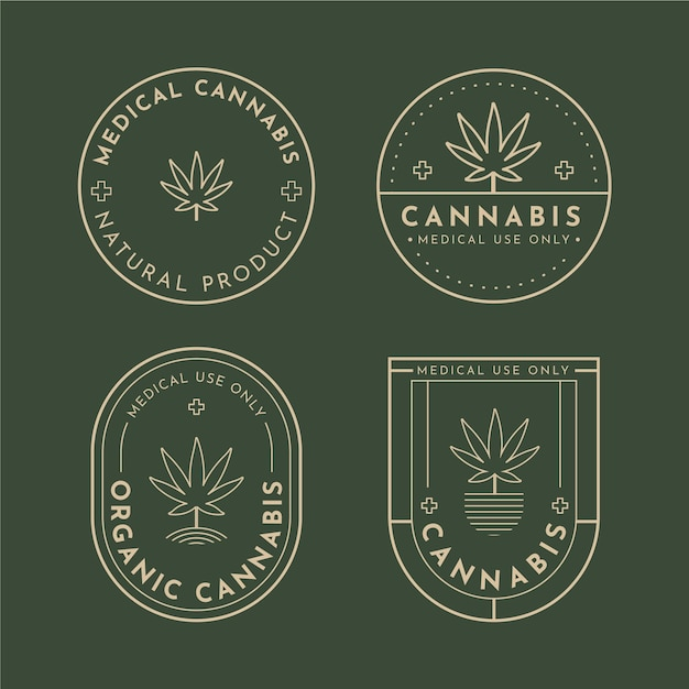 Distintivi di cannabis medica Vettore gratuito