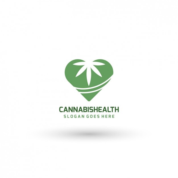 medical cannabis logo template free vector