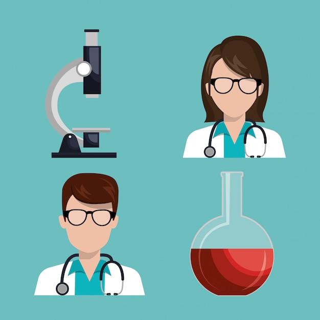 Medical care design Free Vector