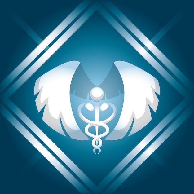 Medical care design Premium Vector