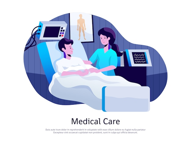 Medical care poster Free Vector