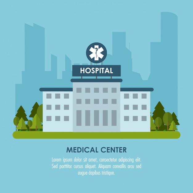 Medical center illustration  illustration Premium Vector