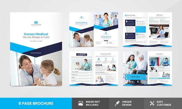 Medical company brochure  template Premium Vector