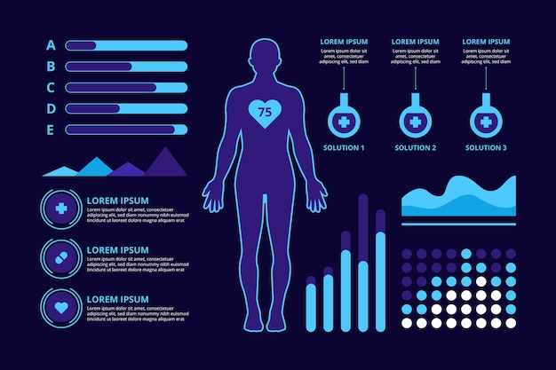 Medical concept infographic design Free Vector
