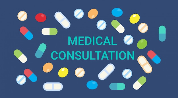 Medical consultation online doctor health care clinics hospital service medicine banner Premium Vector