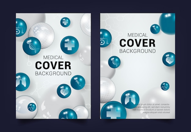 Medical cover background Premium Vector