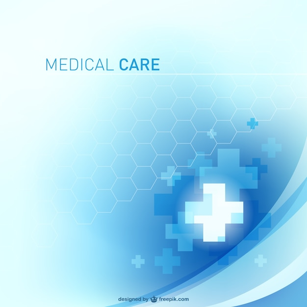 Medical crosses background Free Vector