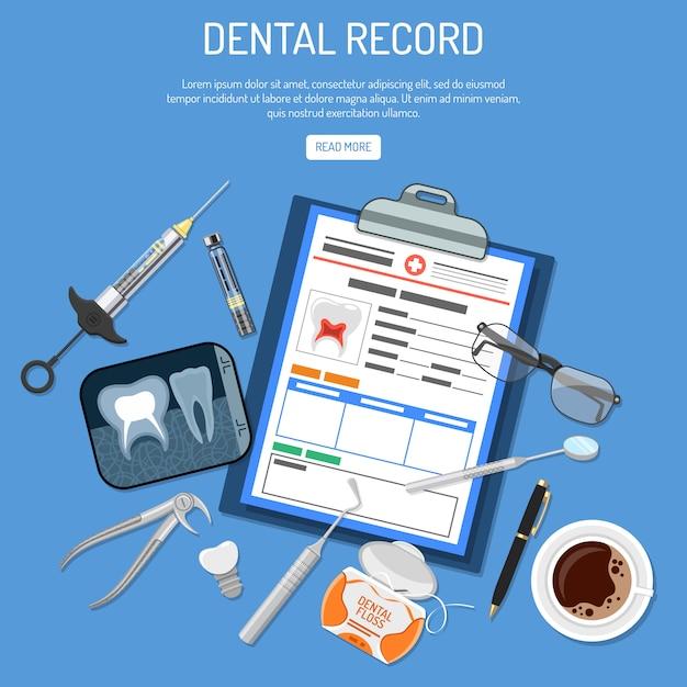 Medical dental record concept Premium Vector