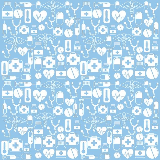 Medical design over blue background vector illustration Premium Vector