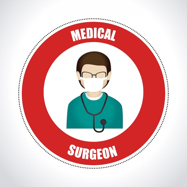 Medical design illustration Free Vector