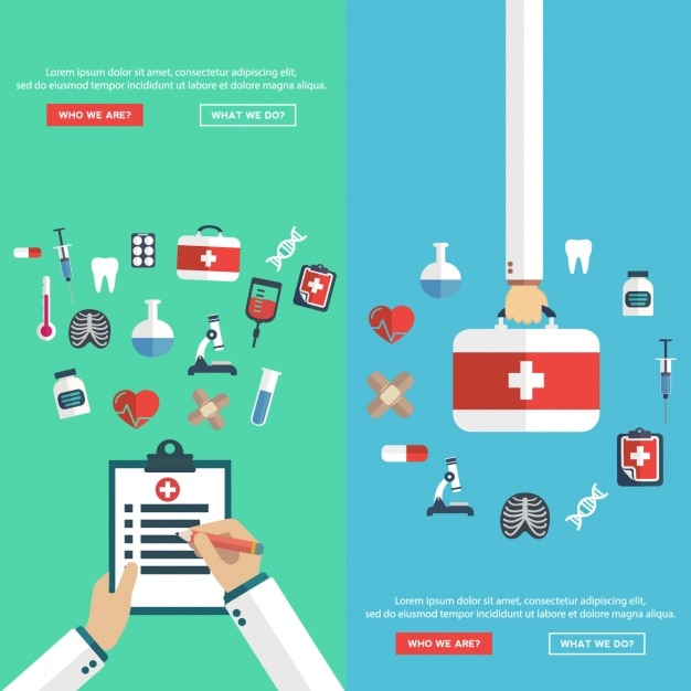 medical designs set vector free download