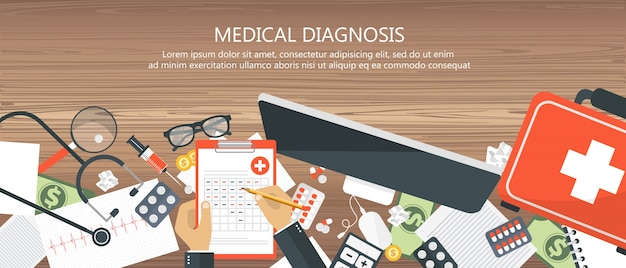 Medical diagnosis concept Free Vector
