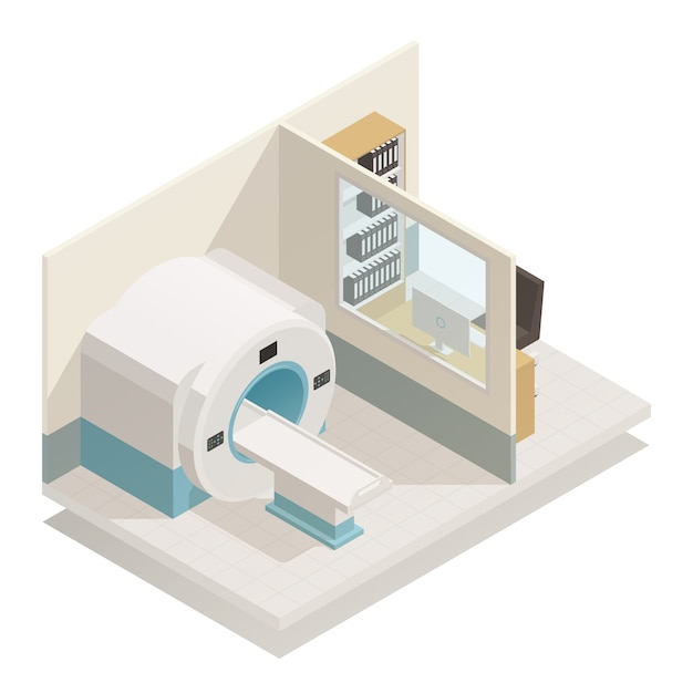 Medical diagnostic equipment isometric Free Vector