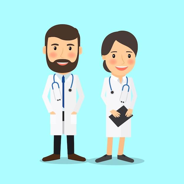 Medical doctor characters Premium Vector