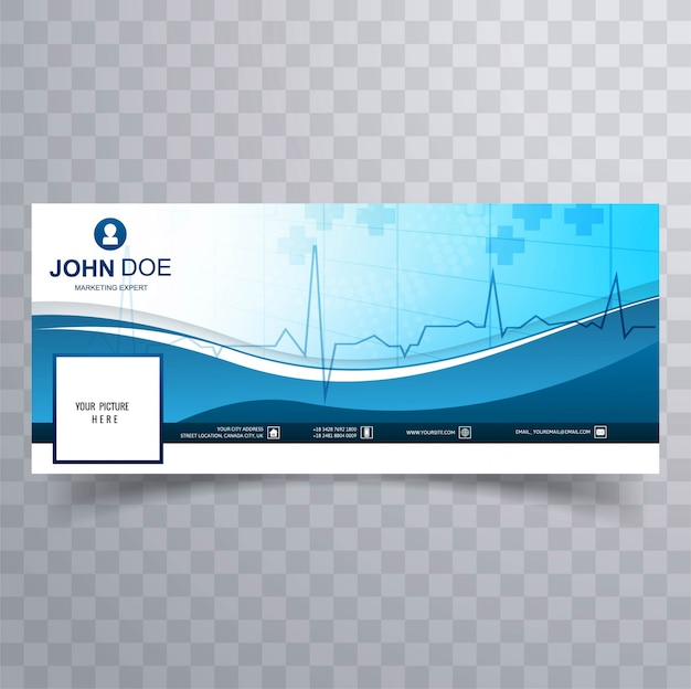 Medical Facebook Timeline Template Design Vector Vector Free Download