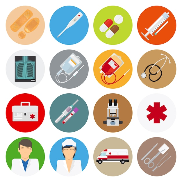 Medical flat icons Premium Vector