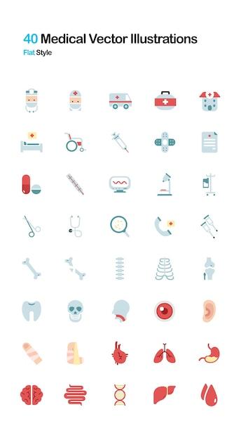 Medical flat illustration Premium Vector